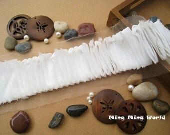 Chiffon Lace Trim- 2 Yards Ivory Chiffon Lace Trim (C70)