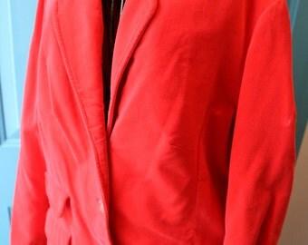 Orange Velvet Waist Suit Jacket