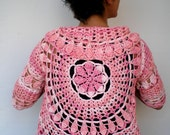 Mandala Circle Fashion Shrug   Cotton Bolero  Woman Hand Crocheted Circle Bolero