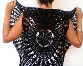 Mandala Fashion Shrug   Cotton Vest Woman Hand Crocheted Circle shrug Bolero