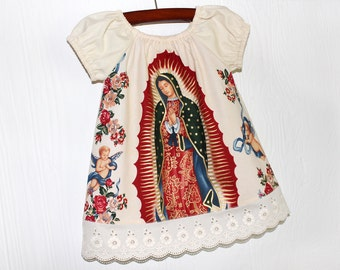 Mexican Our lady of Guadalupe baby dress