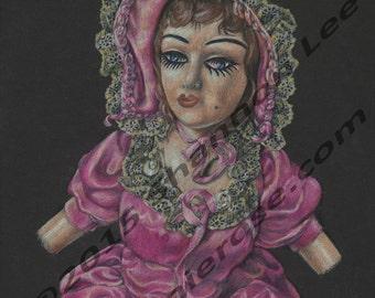 "Sophie (9x12"" Colored Pencil Print)"