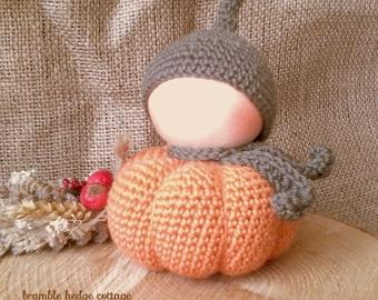 Waldorf Inspired Gnome - Pumpkin Gnome