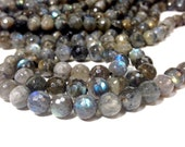 Full strand of Stunning A Grade 8 mm. Labradorite Faceted Round Beads (MJ1602W80)