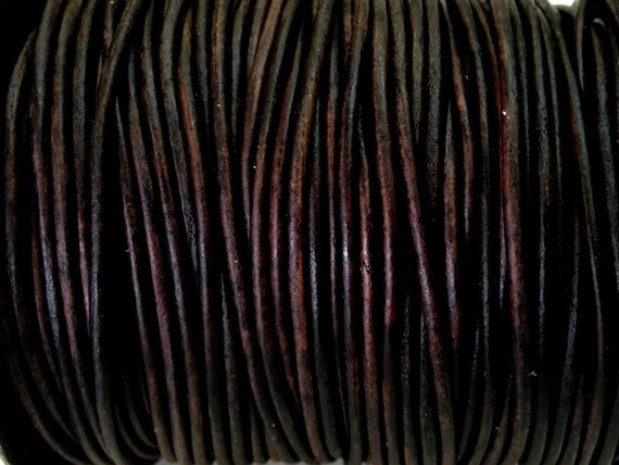 2 Mm 32 80 Ft Genuine Leather Round Cord Natural