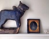 Indigo Nandi // India // Bull // Shiva // Folk Art // Primitive // Shipping Included