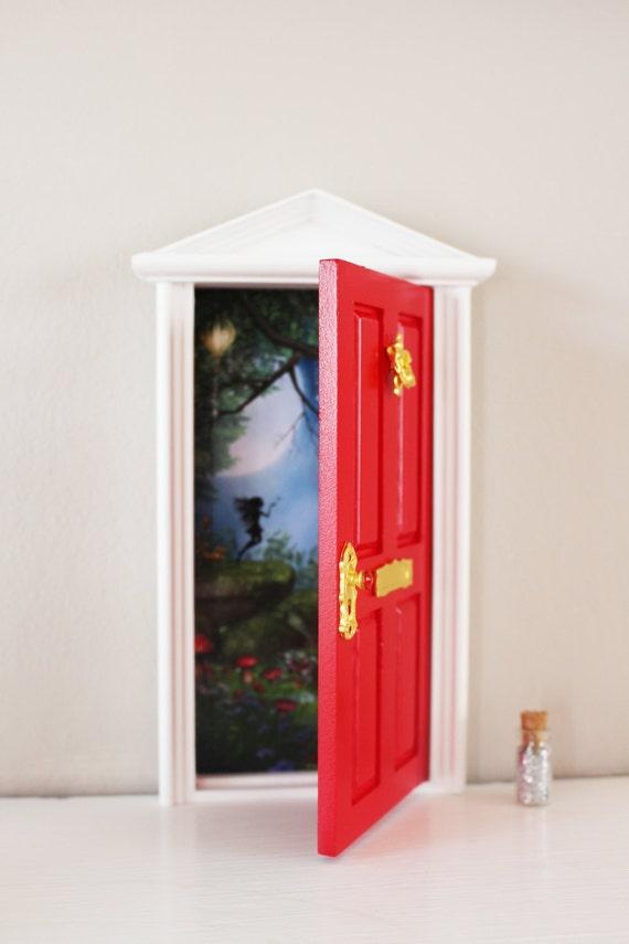 Opening red magical fairy elf door for Red elf door