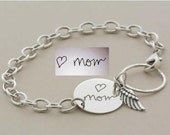 Keepsake for Daughter, sister, Your actual HANDWRITING or SIGNATURE custom engraved handmade sterling silver bracelet, Perfect gift for HER