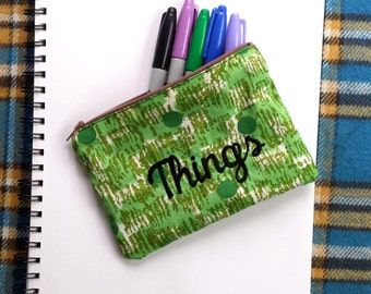 Embroidered Zippered Pouch for your Things
