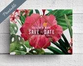 Hawaii Wedding Save the Date Printable