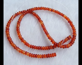 Red Agate Loose Bead,1Strand,40cm In the Lenght,4x2mm,12.36g