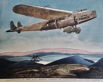 Fokker Aircraft F - 32 Original Ad 1930