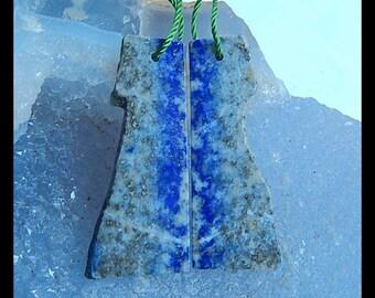 Nugget Lapis Lazuli Gemstone Earring Bead,35x15x3mm,6.4g