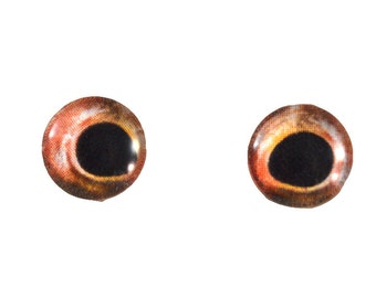 Glass Fish Eyes - 10mm - Glass Eyes - Red