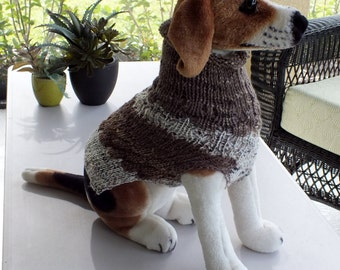 Hand Knit Dog Sweater Size Medium