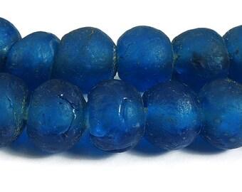 Blue Krobo Recycled Powder Glass Beads Ghana Africa 96782