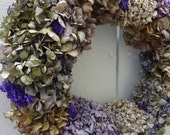 Hydrangea Wreath  Easter Wreath   NOW ON SALE  Dried Wreath  Dried Floral Wreath  Natural Wreath  Hand Crafted Wreath