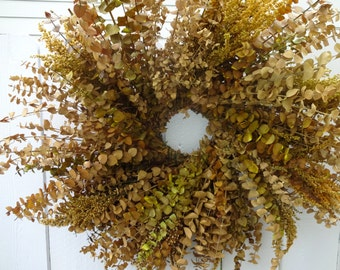 Fragrant Wreath  Eucalyptus Wreath  Natural Wreath Preserved Wreath  Preserved Eucalyputs Wreath  Fall Wreath  Autumn Wreath