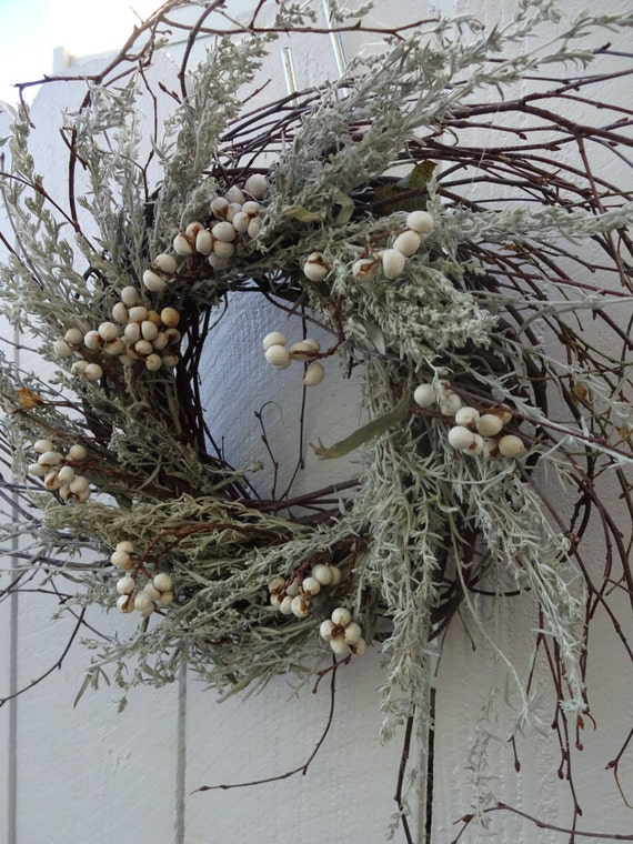 Birch Twig Wreath Rustic Wreath Natural Wreath By Donnahubbard