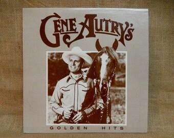 CHRISTMAS SALE GENE Autry'S - Golden Hits - 1985 Vintage Vinyl Record Album