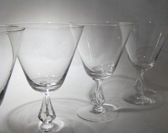 4 Fostoria Crystal Glasses - Symphony - 2 Sets Available