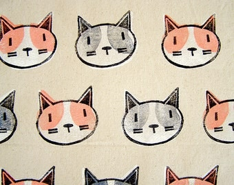 Cats Tote Bag Grey and Pink