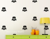 Star Wars Decor Wall Sticker, Hero wall art for boy room, Super Hero Mask Wall Decal