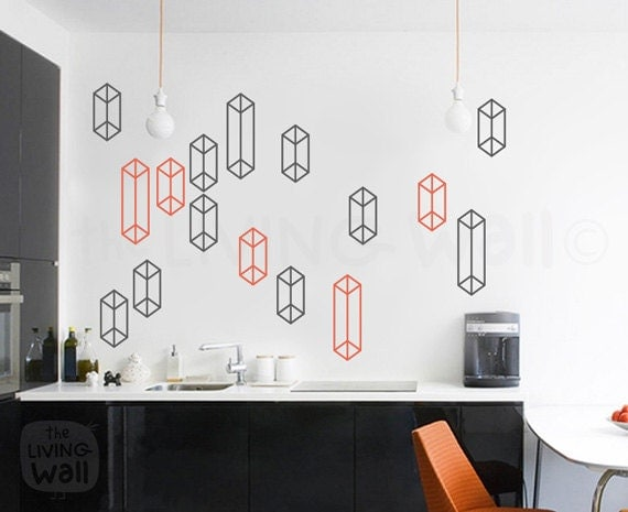 Geometric shapes pattern wall decal home decor geometric patterns vinyl wall stickers Home decor wall decor australia
