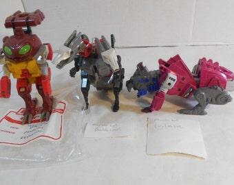 Lot Vintage 1987 G1 Transformers Monsterbots: DOUBLECROSS, REPUGNUS & GROTUSQUE