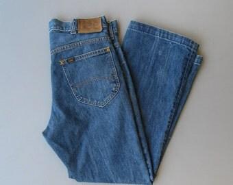Vintage Lee Riders Sanforized Denim. 1970s Lee Jeans. Waist Size 30