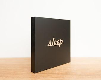 Sleep Wall Plaque, Sleep Wall Tile, Wall Art Word, Sleep Wall Decor, SALE, Word Tile, Engraved Sleep Tile