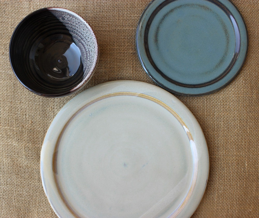 mix and match dinnerware 3 piece 1 place setting stoneware. Black Bedroom Furniture Sets. Home Design Ideas