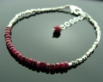 Ruby 925 Sterling Sliver Bracelet