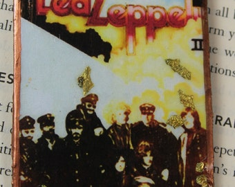 Led Zeppelin 2 Album Hanging Ornament Rear View Mirror Tree Ornament Car Decor Album Cover Vintage Album