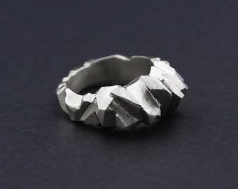 Facet Ring: Sterling Silver Faceted Ring