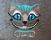 Awesome Cheshire cat embroidery designs - machine embroidery design 4x4 and 5x7 for Wonderland teaparty projects