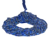 AAA Quality Lapis Lazuli Faceted Rondelles 3.5mm to 4mm 14 inch strand.
