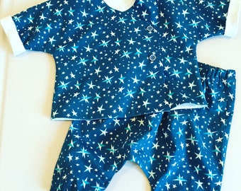 Starry Night, organic cotton jacket and pull-on pants