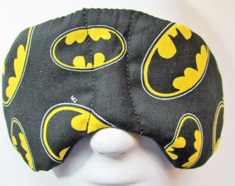 Herbal Hot/Cold Therapy Child Size Sleep Mask with adjustable and removable strap Batman
