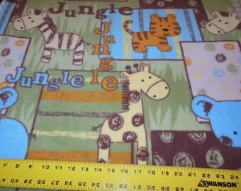 Anti pill fleece jungle friends patch
