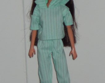 """OOAK doll clothes for Barbie - """"Hooded Chic"""""""