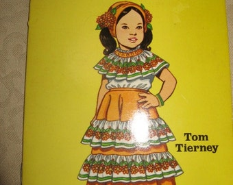 Little Mexican Girl paper doll book