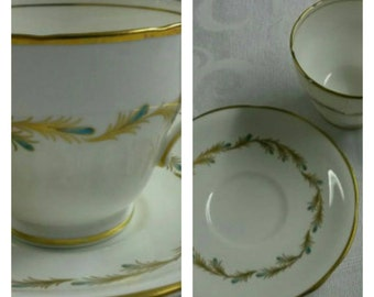 ON SALE- Aynsley cup & saucer in the Viscount pattern circa 1930's-  952