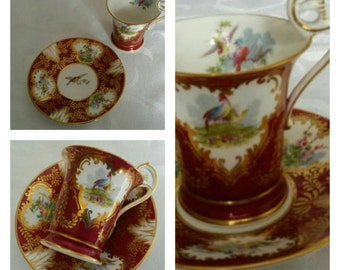 Hand Painted George Jones Fragonard cup & saucer circa 1920  DR