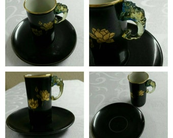 ON SALE- Asian cup & saucer circa late 1800's to early 1900's-  453