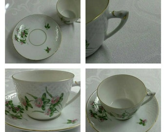 Bing & Grondahl Tea Cup and Saucer; Denmark; Hand Painted  circa 1962 plus-  629