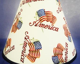America Patriotic Americana Lamp Shade