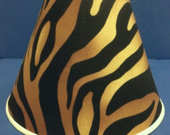 Brown Tan Zebra Print Lamp Shade