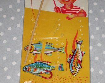 NOS Excellent Magnetic Fishing Game Made in Japan Vintage Magnet