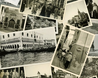 "50 pc - Vintage Photos ""World Travel Collection"" Snapshot Lot Old Photo Antique Black & White Photography Scrapbook Paper Ephemera - 102314"